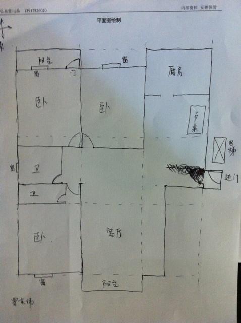 弘易风水:平面图案例(十二)家俱不知如何摆放